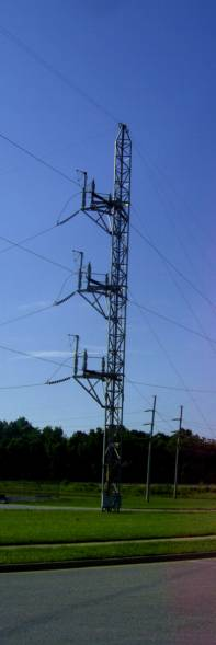 Power Pole for electricity not used in the future
